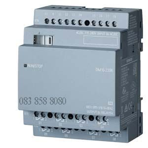 MODULE MỞ RỘNG LOGO! DM16 230R PS/I/O: 230V/230V/relay, 4 MW, 8 DI/8 DO