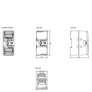 MODULE I/O 8DI/8DO 6ES7223-1BH32-0XB0