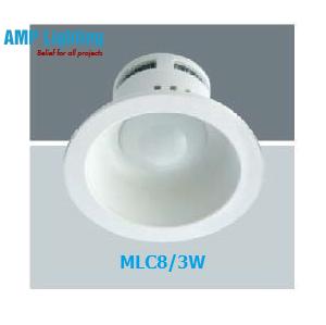 Đèn Downlight âm trần LED 3W MLC8/3W