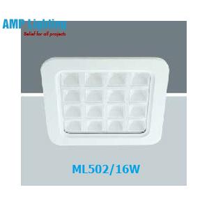 Đèn Downlight âm trần vuông LED 16W