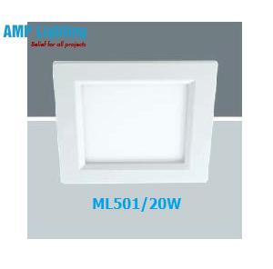 Đèn Downlight âm trần vuông LED 20W ML501/20W
