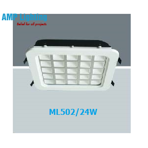 Đèn Downlight âm trần vuông LED 24W