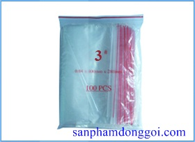 Túi zipper #3: 7x10cm