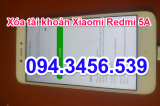 Xóa tài khoản Xiaomi Redmi 5A