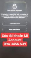 Xóa tài khoản Xiaomi, xóa Mi Account