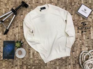 Áo len trắng