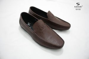 Giày lười nâu ht chữ v