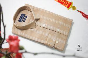 SM bambo nâu vàng kẻ ô trắng có túi