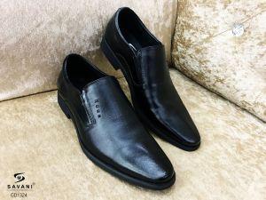 Giày đen 4 chấm ht laze thẳng