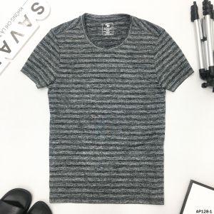 Áo T-Shirt xám vân đen ngang