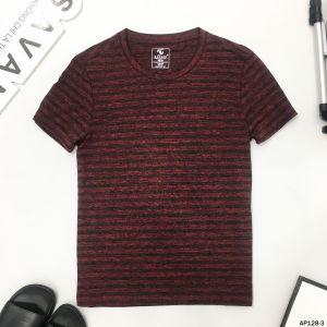 Áo T-Shirt đỏ vân đen ngang