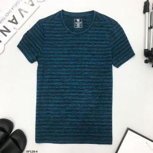 Áo T-Shirt xanh thẫm vân đen ngang