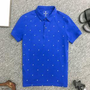 Áo Polo xanh dương ht lá