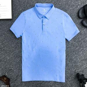 Áo Polo xanh trời ht lá