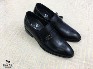 Giày đen đai ngang ht 3 viền chấm nhỏ
