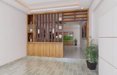 Vách chắn gỗ trang trí phòng khách