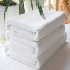 Khăn Tắm Cotton 70x140cm 280gr Dùng Trong Khách Sạn (Màu Trắng)