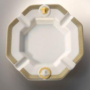 Gạt tàn sứ Versace Gorgona, H24x24cm