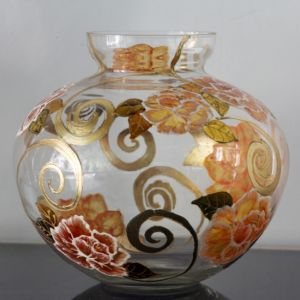 Lọ hoa vẽ tay nghệ thuật Gipar, H25cm