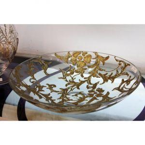 Đĩa hoa vẽ tay nghệ thuật Gipar