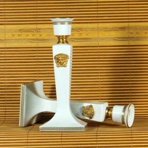 Chân nến sứ Versace Gorgona, H21cm