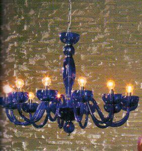 Đèn chùm pha lê Tiziano mầu xanh, 12 bóng