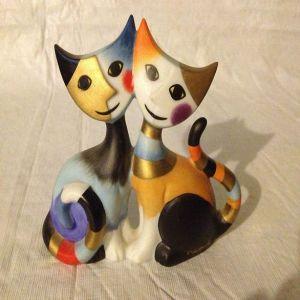 Mèo Claudio & Claudia, H11cm