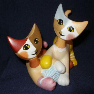 Mèo Gianni & Clara, H8cm