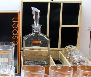 Bộ bình và 02 cốc whisky Aspen (hộp gỗ)