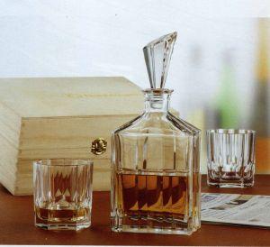 Bộ bình và 2 cốc Whisky Aspen (hộp gỗ)