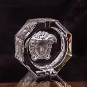 Gạt tàn pha lê Versace, D16cm