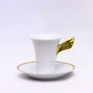 Bộ 6 đĩa, tách Cà phê Versace Méandre d'Or, 0,18l