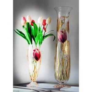 Lọ hoa vẽ tay nghệ thuật Gipar, H80cm