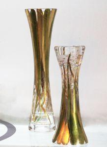 Chân nến vẽ tay nghệ thuật Gipar, H25cm