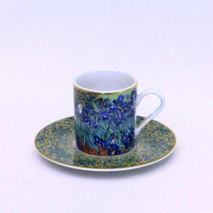 Bộ đĩa, tách Iris, 6cm