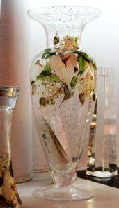 Lọ hoa vẽ tay nghệ thuật Gipar, H43cm