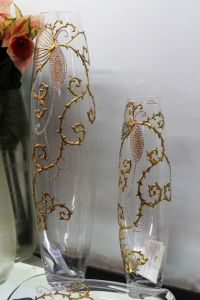 Lọ hoa vẽ tay nghệ thuật Gipar, H70cm