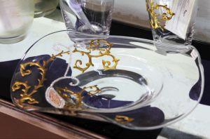 Bát hoa vẽ tay nghệ thuật Gipar, D40xH10