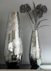 Lọ hoa vẽ tay nghệ thuật Gipar, H40cm