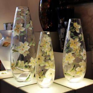 Lọ hoa vẽ tay nghệ thuật Gipar, H60cm