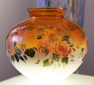 Lọ hoa vẽ tay nghệ thuật Gipar, H27cm