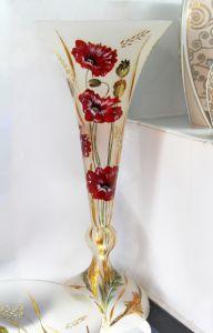 Lọ hoa vẽ tay nghệ thuật Gipar, H80x35cm