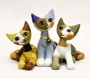 Mèo Tre Amici, H11cm