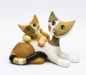 Mèo Due Amici, H12cm