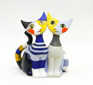 Mèo Iona & Cesario, H14cm