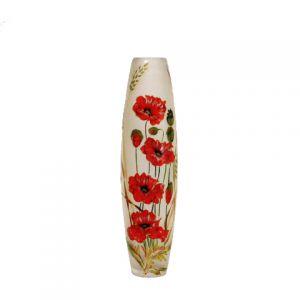 Lọ hoa vẽ tay nghệ thuật Gipar, H50cm