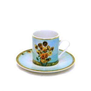 Bộ đĩa, tách Sunflower, 6cm