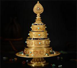Khay Mandala Đá Quý Cúng Dường