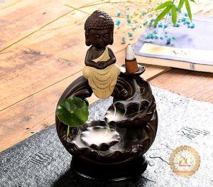 Thác Khói Trầm Hương Tượng Phật Tham Thiền