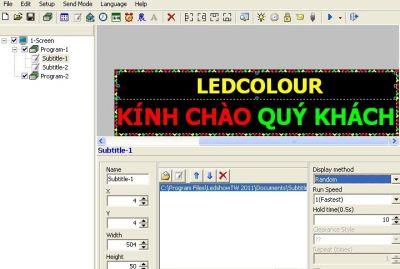 Phần mềm LED dòng BX 2011